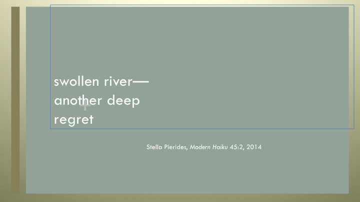Modern Haiku,river,regret,