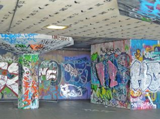 South Bank graffiti,
