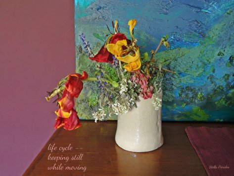 vase,flowers,tulips,haiga,