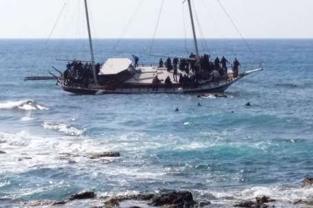 Migrant ship sinking