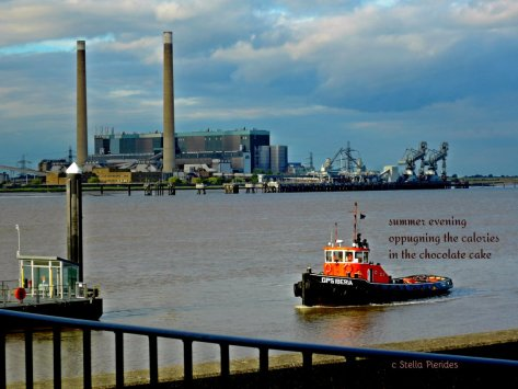 Tilbury as  seen from Gravesend; haiga;