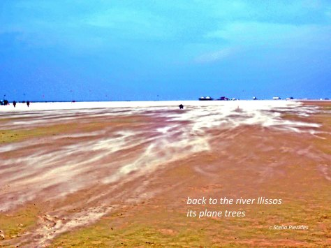 haiga,photo,Sankt Peter-Ording,Ilissos,river,micropoetry,
