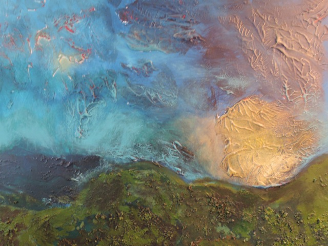 Painting,The Path,haibun,Maria Pierides,haiku,Port Isaac,Amorgos,