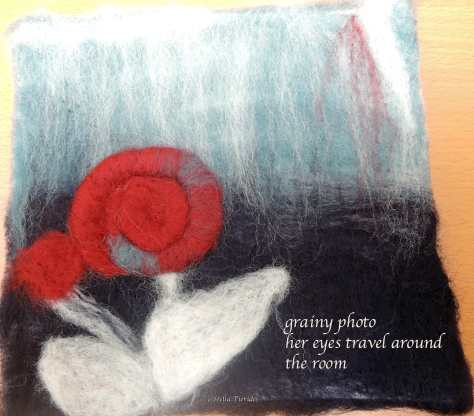 haiga, haiku, grainy photo,