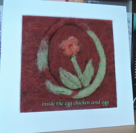 Easter card, haikufeltings,