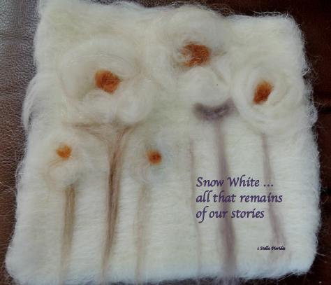 haiga, Snow White, haiku,