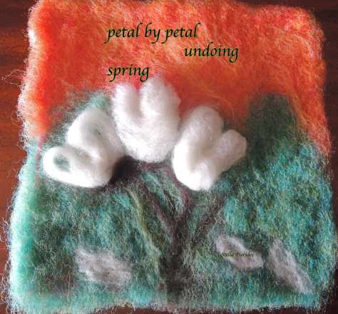 haiga,haikufeltings,felted flower,