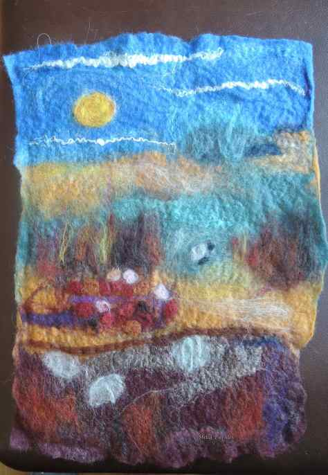 wet-felted