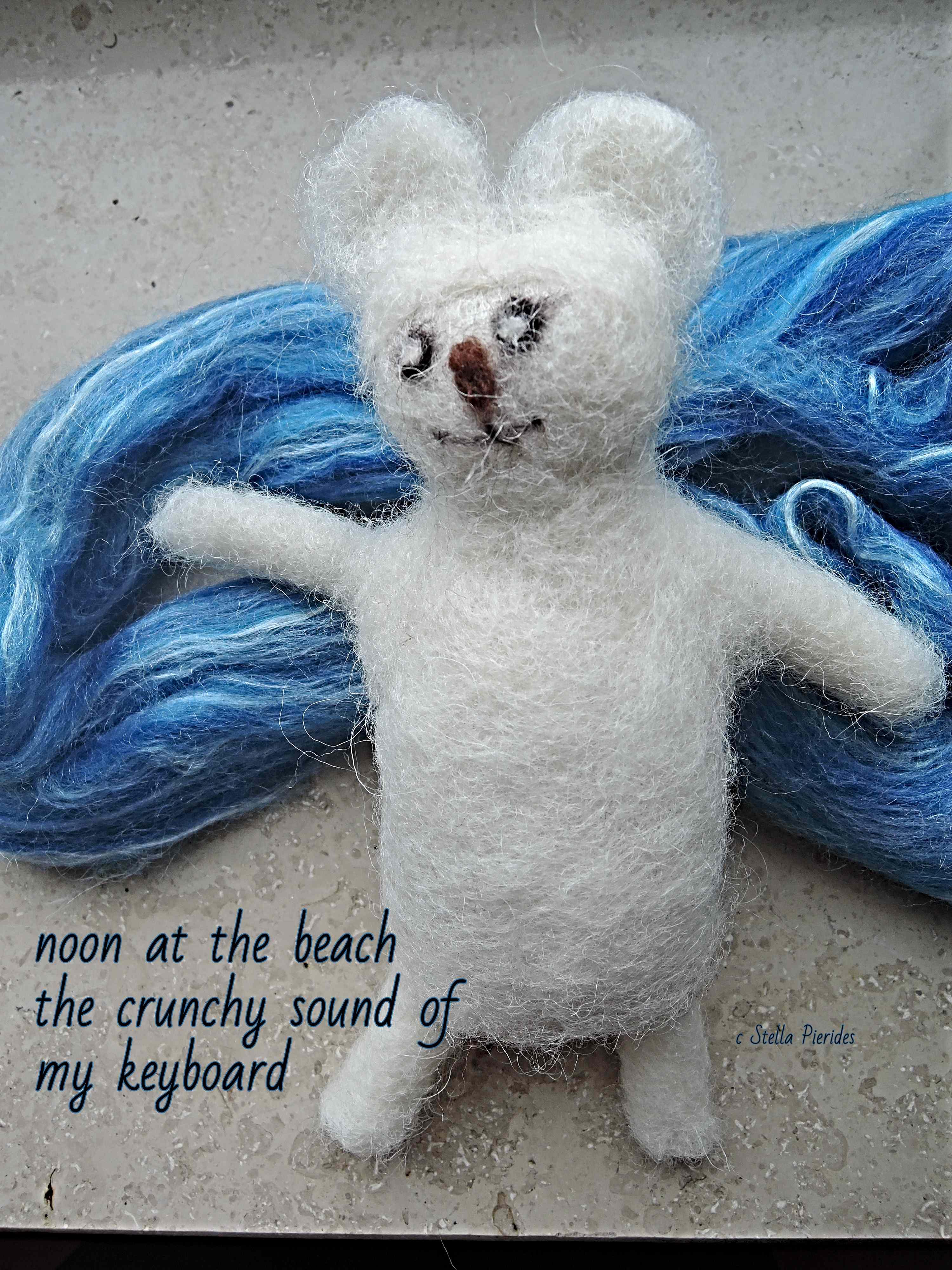 haiga, wool ar, haikufeltings,