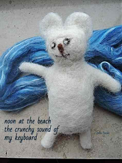 haiga, wool ar, haikufeltings,