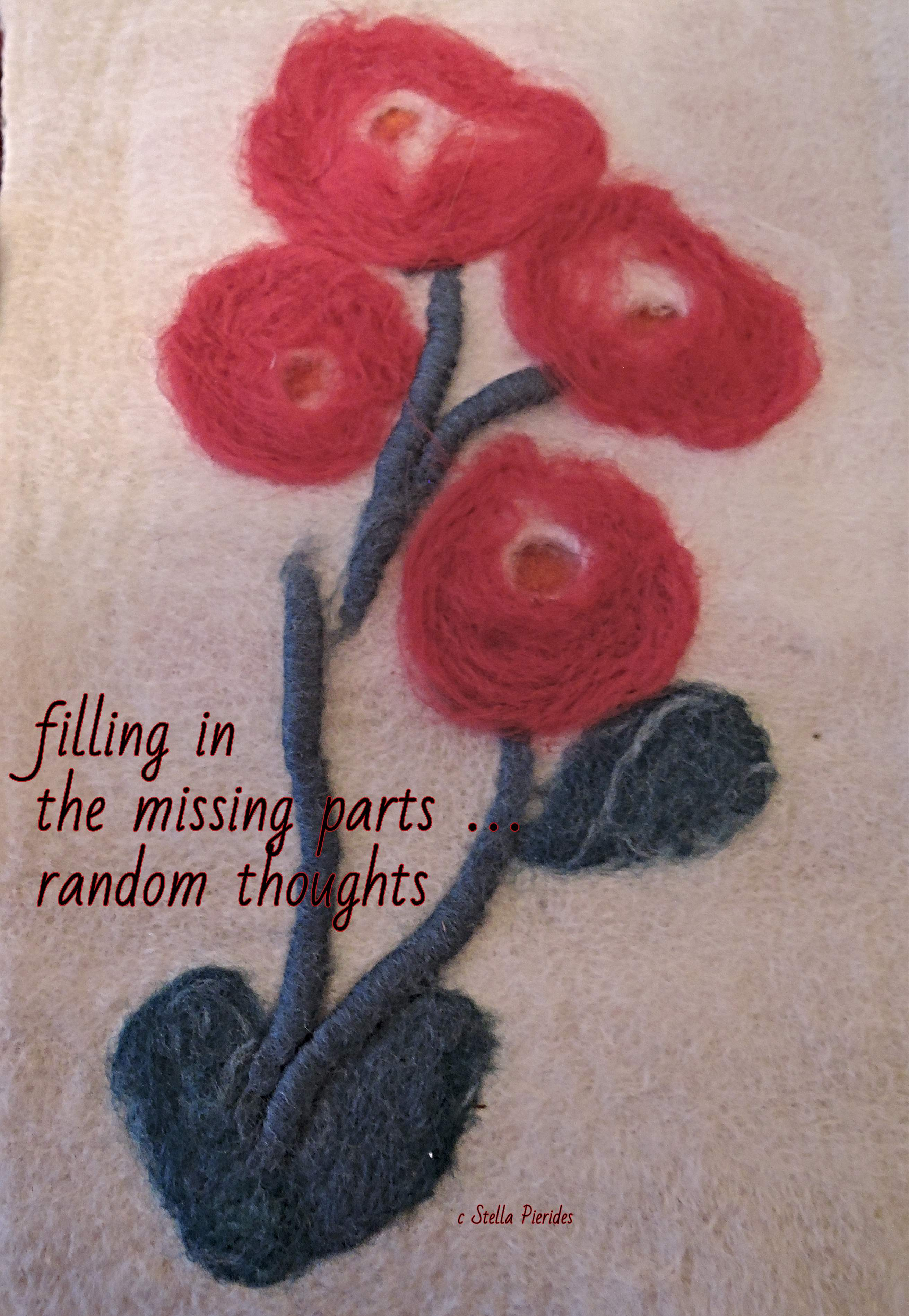 haikufeltings, haiga, wool flowers,