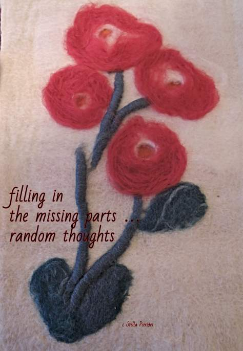 haikufeltings, haiga, wool flowers,