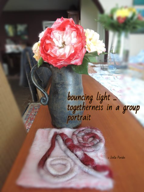 rose, felting,