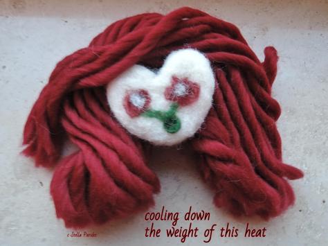 heart, wool,