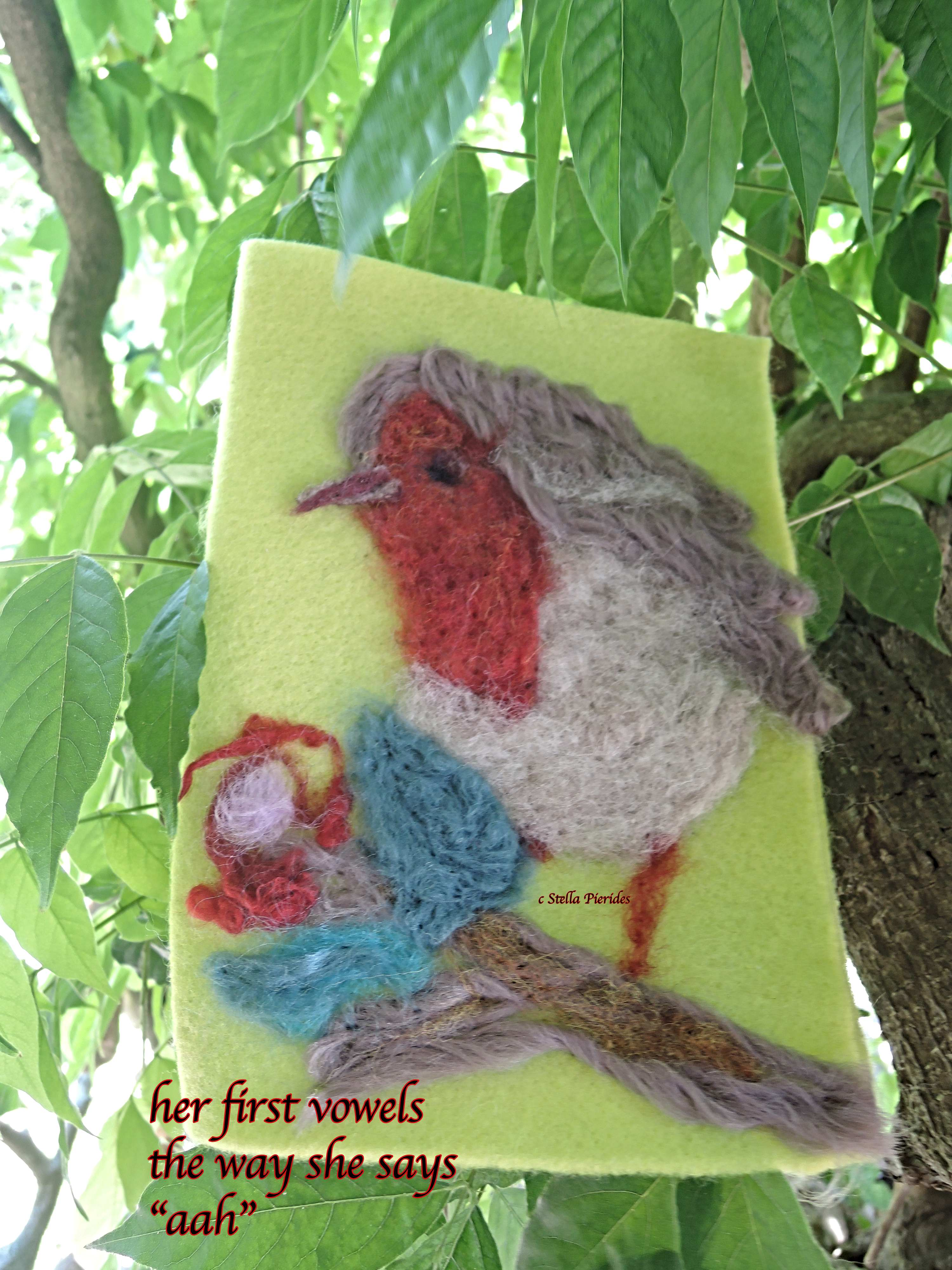 sparrow,felting,