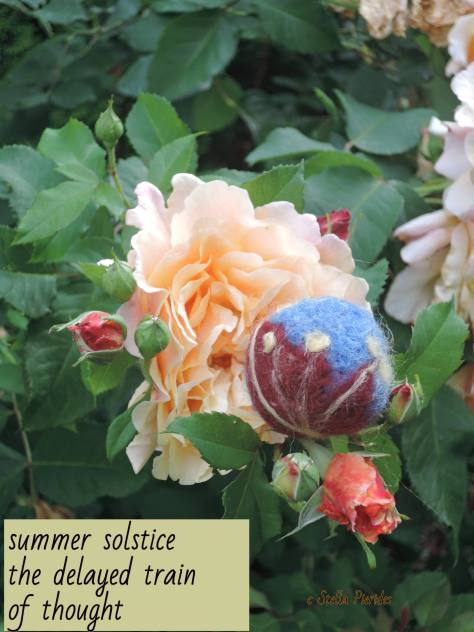 roses, felting,
