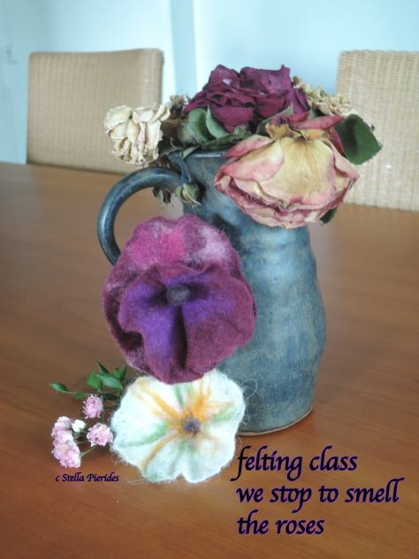 felted flower,