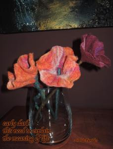 felted flowers,