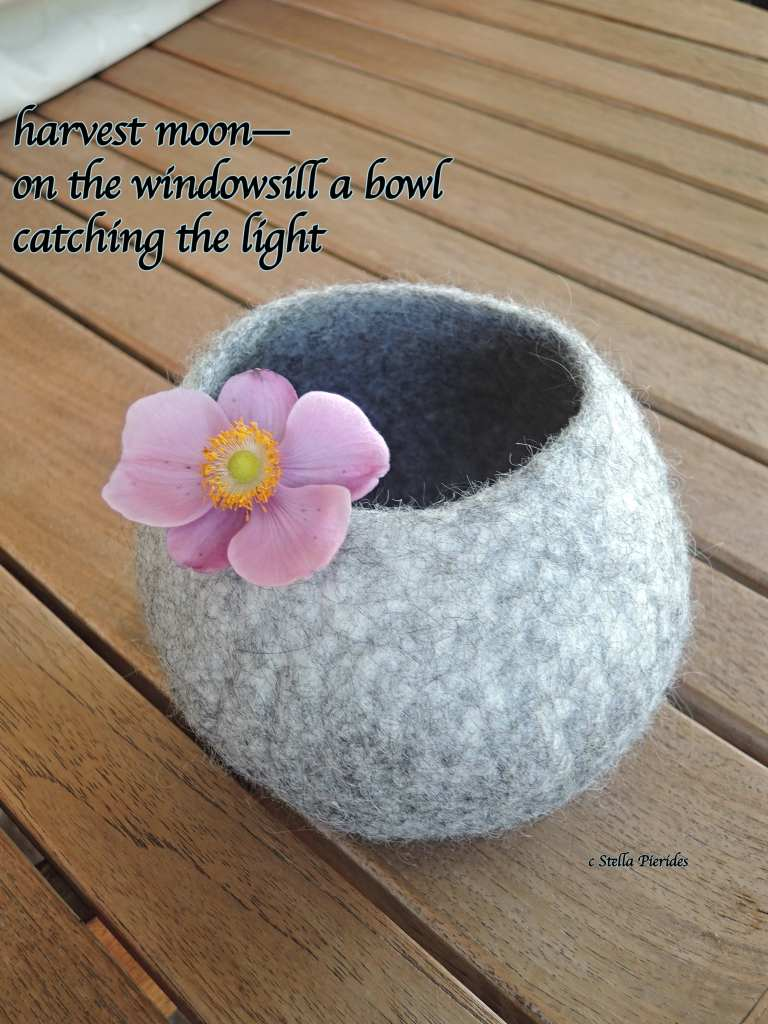 felted bowl, haiga,