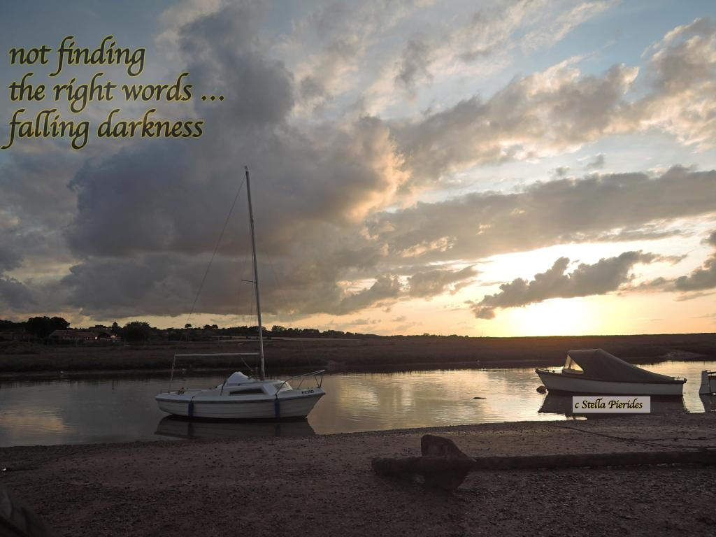 sunset, haiga,